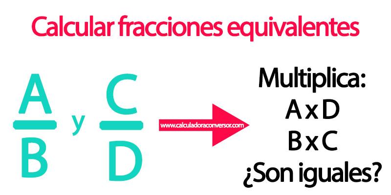 Método para calcular fracciones equivalentes