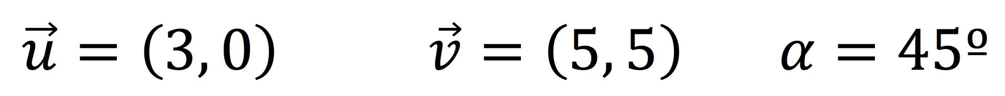 Ejercicio del producto escalar de dos vectores