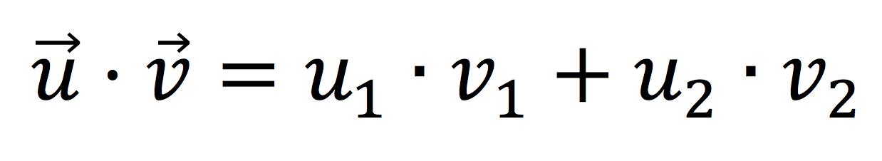Fórmula analítica del producto escalar