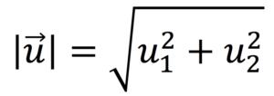 Fórmula para calcular el módulo de un vector