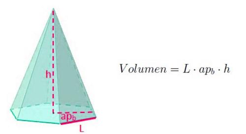 Fórmula para sacar el volumen de una pirámide hexagonal
