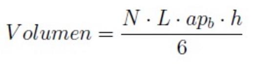 Fórmula para calcular el volumen de una pirámide regular