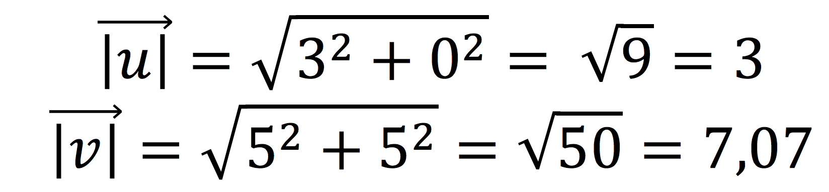 Módulo de dos vectores