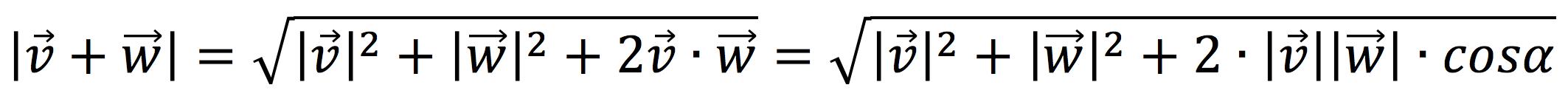 Módulo de la suma de dos vectores