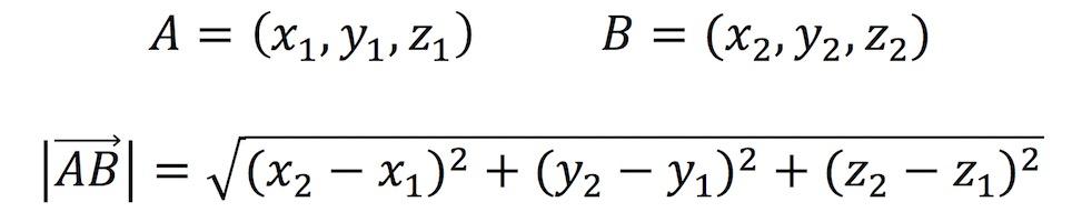 Módulo de un vector tridimensional