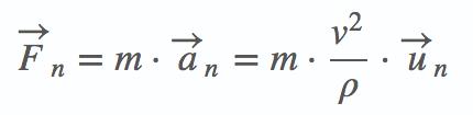 Fórmula de la fuerza centrípeta