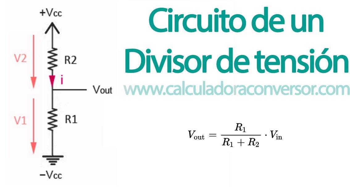 Fórmula del divisor de tensión