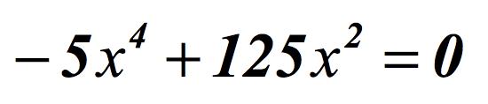 Ecuación bicuadrada incompleta