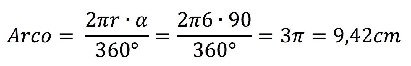 Ejercicio de calcular el arco de un sector circular