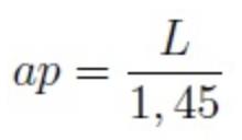 Fórmula para calcular la apotema