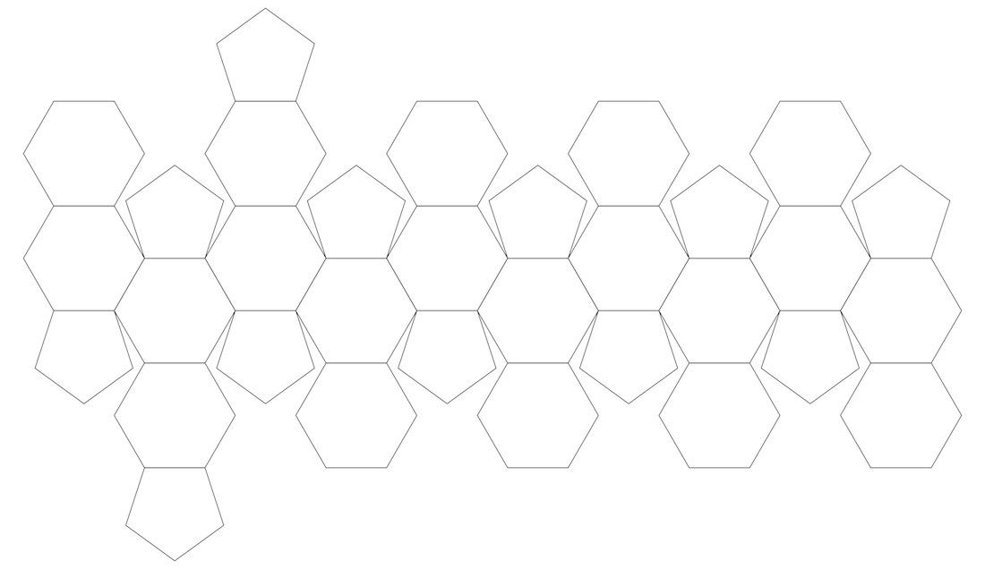 Plantilla icosaedro truncado