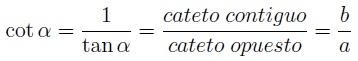 Fórmula de la cotangente