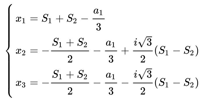 Ecuaciones generales tercer grado