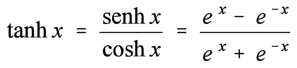 Fórmula tangente hiperbólica