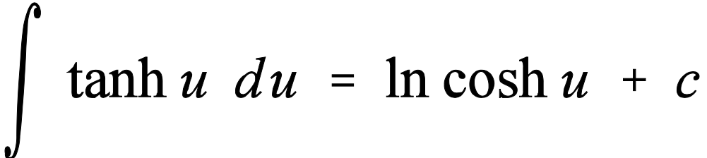 Integral de tangente hiperbólica