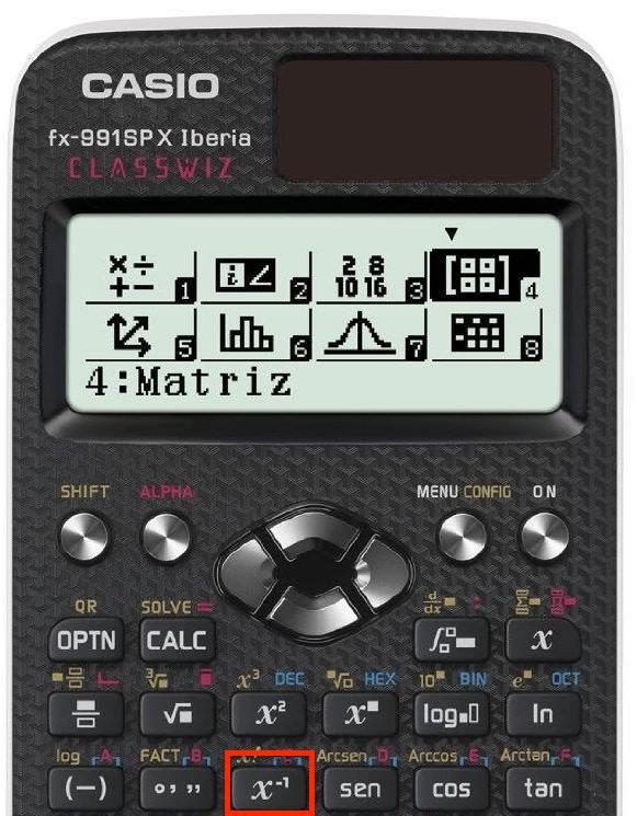Función inversa con la calculadora